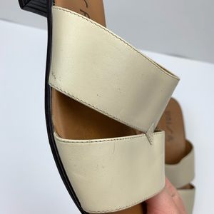 0 Shoes - Unisa Heel Mules Nude Sz 8.5 Open Toe Strap